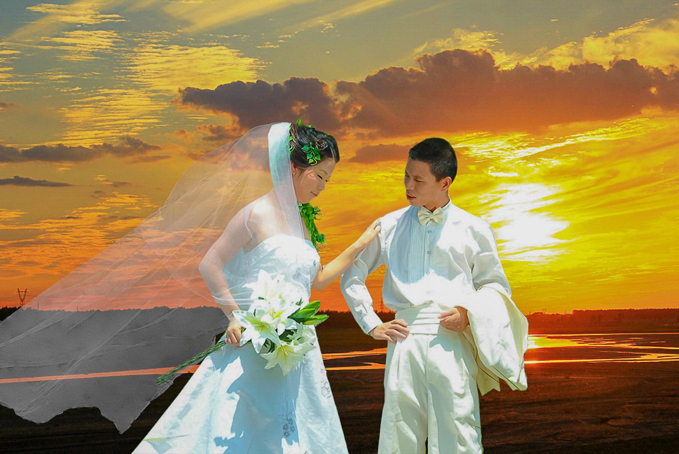 婚纱照抠图_抠图素材